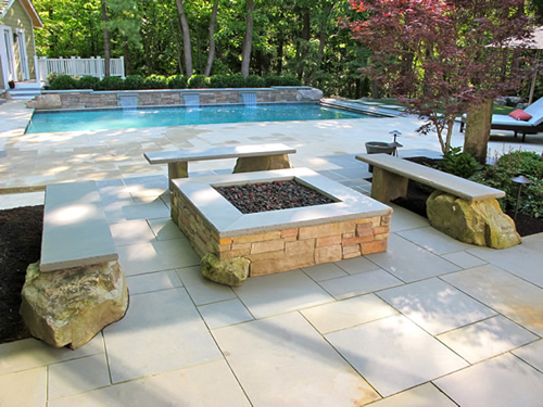 pool and landscape design in pepper pike ohio - Custom Pool Design And Custom Paver Patio In Pepper Pike, Ohio By