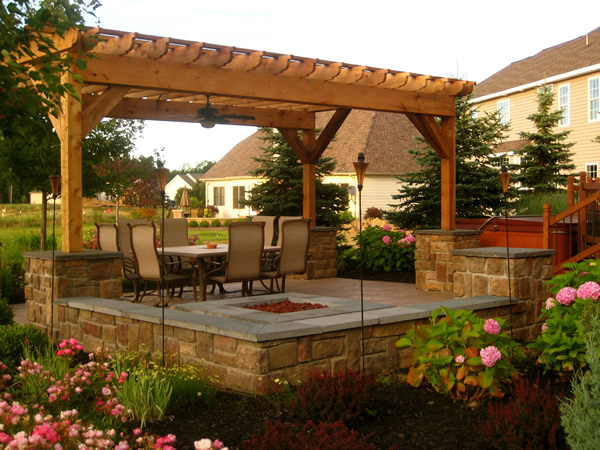 Superior Pergola Over Patio In Willoughby Ohio Pergola Over Patio In Willoughby Ohio  ...